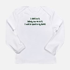 Wants to Speak to Nonni Long Sleeve Infant T-Shirt
