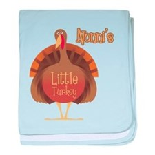 Nonni's Little Turkey baby blanket