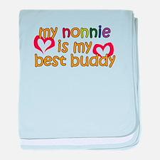 Nonnie is My Best Buddy baby blanket