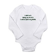 Want to Speak to Nonnie Long Sleeve Infant Bodysui