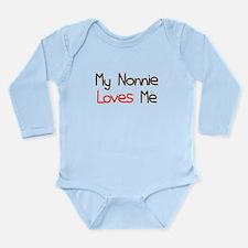My Nonnie Loves Me Long Sleeve Infant Bodysuit