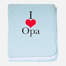 I Love (Heart) Opa baby blanket