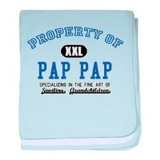 Property of Pap Pap baby blanket