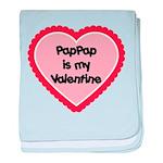 PapPap is My Valentine baby blanket