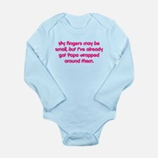 Papa's Wrapped (pink) Long Sleeve Infant Bodysuit