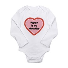 Papaw is My Valentine Long Sleeve Infant Bodysuit