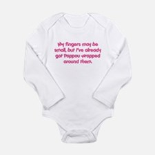 Pappou's Wrapped (pink) Long Sleeve Infant Bodysui