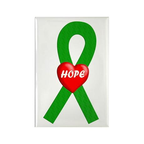 Green Hope Rectangle Magnet (100 pack)