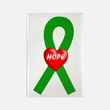 Green Hope Rectangle Magnet