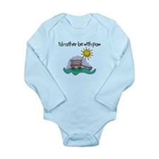 I'd Rather be with Paw Long Sleeve Infant Bodysuit