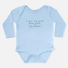 Get my Looks from PawPaw Long Sleeve Infant Bodysu
