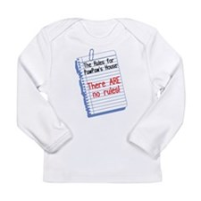 No Rules at PawPaw's House Long Sleeve Infant T-Sh