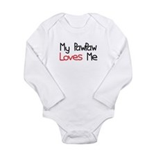 My PawPaw Loves Me Long Sleeve Infant Bodysuit