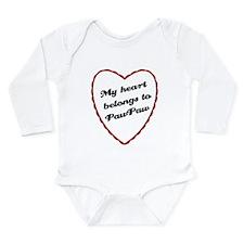 My Heart Belongs to PawPaw Long Sleeve Infant Body