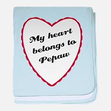 My Heart Belongs to Pepaw baby blanket