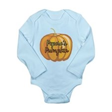 Pepere's Pumpkin Long Sleeve Infant Bodysuit