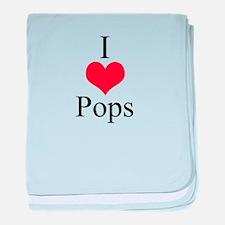 I Love (Heart) Pops baby blanket