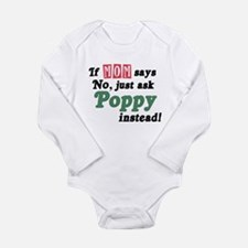 Just Ask Poppy! Long Sleeve Infant Bodysuit
