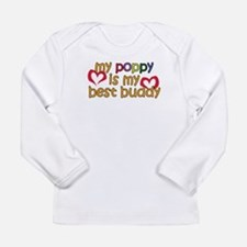Poppy is My Best Buddy Long Sleeve Infant T-Shirt