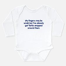 YiaYia's Wrapped (blue) Long Sleeve Infant Bodysui