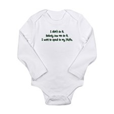 Want to Speak to YiaYia Long Sleeve Infant Bodysui