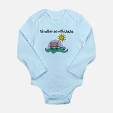 I'd Rather be with YiaYia Long Sleeve Infant Bodys