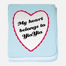 My Heart Belongs to YiaYia baby blanket