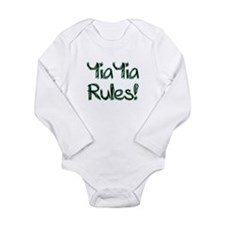 YiaYia Rules! Long Sleeve Infant Bodysuit