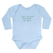 Get my Looks from Zayde Long Sleeve Infant Bodysui
