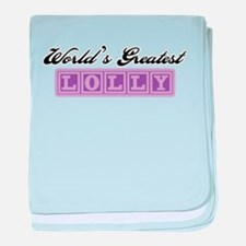 World's Greatest Lolly baby blanket