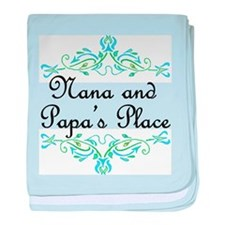 Nana and Papa's Place baby blanket