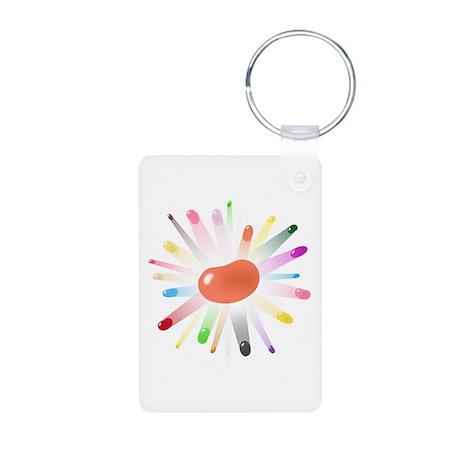 orange jellybean blowout Aluminum Photo Keychain