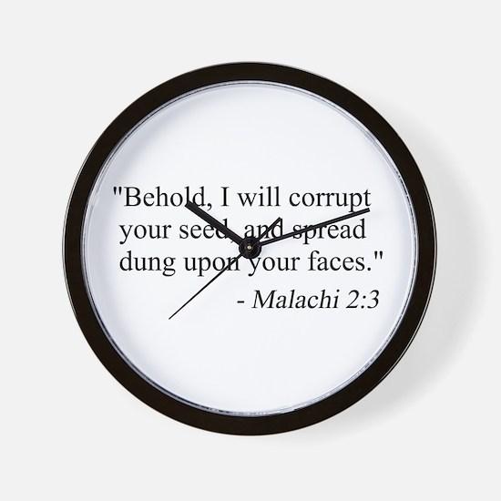Cute Funny secular Wall Clock
