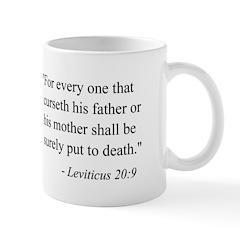 Leviticus 20:9 Mug