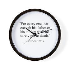 Leviticus 20:9 Wall Clock