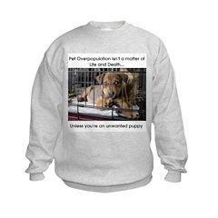 Life or Death Puppy Sweatshirt
