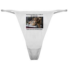 Life or Death Puppy Classic Thong