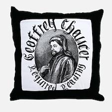 Geoffrey Chaucer Throw Pillow