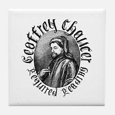 Geoffrey Chaucer Tile Coaster