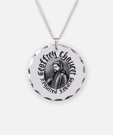 Geoffrey Chaucer Necklace Circle Charm