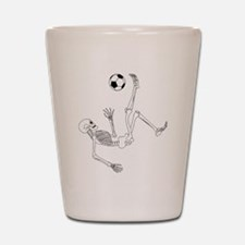 Bicycle Kick Skeleton Shot Glass