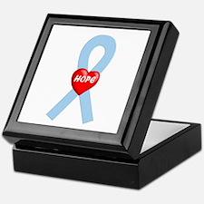 Lt. Blue Hope Keepsake Box