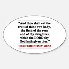 Deuteronomy 28:53 Oval Decal
