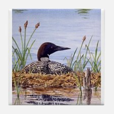 Nesting Loons Tile Coaster