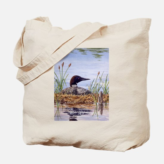 Nesting Loons Tote Bag