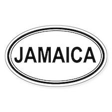 Jamaica Euro Oval Decal