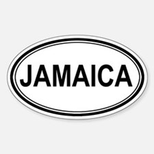 Jamaica Euro Oval Decal