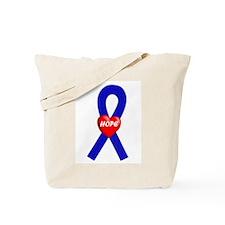 Blue Hope Tote Bag
