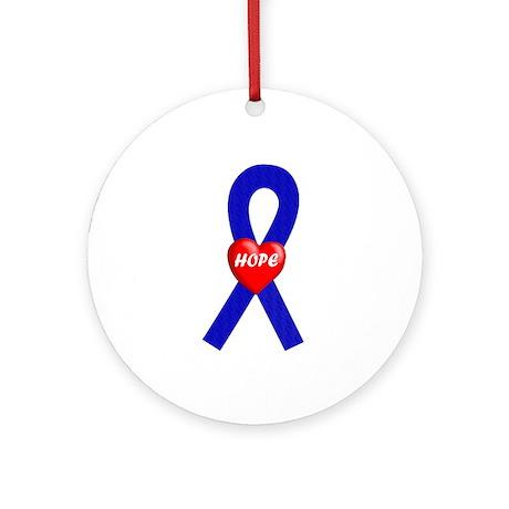 Blue Hope Ornament (Round)