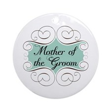 Mother of the Groom Aqua Ornament (Round)
